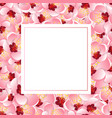 momo peach flower blossom banner card vector image vector image