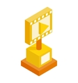 Movie award isometric 3d icon vector image vector image