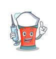 nurse aerosol spray can character cartoon vector image vector image