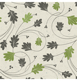 oak leaves seamless vector image vector image