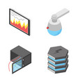 pack of network and connection devices icons vector image vector image