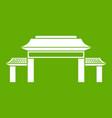 pagoda icon green vector image