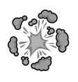 pow bubble sound blast clouds for cartoon or comic vector image vector image