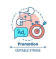promotion concept icon marketing pr campaign idea vector image vector image