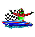 racing boat top view vector image vector image