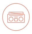 Radio cassette player line icon vector image vector image
