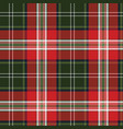 red green plaid seamless fabric texture vector image vector image