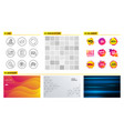 refresh checkbox and report document icons timer vector image vector image