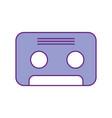 retro cassette isolated icon vector image vector image