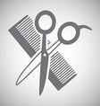 scissors design vector image vector image