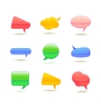 Set of Realistic Glass Speech Bubble vector image vector image
