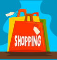 shopping dependence bad habit and addiction of vector image