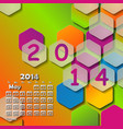 simple european 2014 year calendar vector image vector image