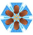 snowflake ice cream vector image
