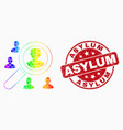 spectral dotted search users icon and vector image vector image