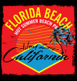 summer theme california california vintage design vector image