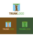 trunk logo and icon vector image vector image