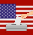 united states election banner background vector image