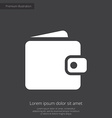 wallet premium icon white on dark background vector image