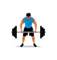 Weightlifting Cartoon vector image