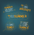 summer badges collection vector image