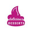 desserts sign vector image