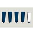 Tubes for packaging blue set vector image