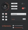 UI Web Elements set vector image