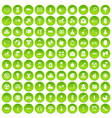 100 maternity leave icons set green circle vector image vector image