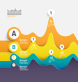 Abstract paper Infographics vector image