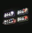 all star retro style sport logo set modern vector image vector image
