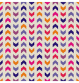 Aztec Chevron seamless colorful pattern background vector image vector image