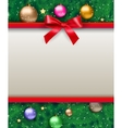 background with bow and tree vector image vector image