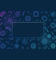bacteriology blue horizontal frame vector image vector image