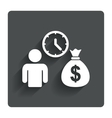 Bank loans sign icon Get money fast symbol vector image
