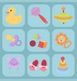 batoys icons cartoon family kid toyshop design vector image