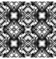 black and white seamless metal pattern vector image vector image