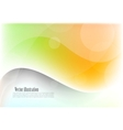 Bright wavy background vector image vector image