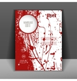 brochure or flyer with splashes red paint vector image