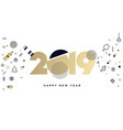 business happy new year 2019 greeting card vector image vector image