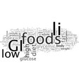 can the gi diet help you lose weight vector image vector image