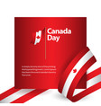 canada day template design vector image