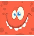 cartoon happy monster face vector image vector image