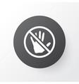 caution icon symbol premium quality isolated stop vector image