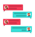 chatting communication screen dialog vector image vector image