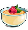 childrens porridge with fresh berries raspberry vector image