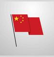 china waving flag design background vector image