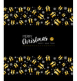 Christmas and New Year gold holiday pattern vector image vector image
