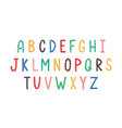 colorful latin letters english alphabet vector image
