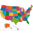 Colorful USA map vector image vector image